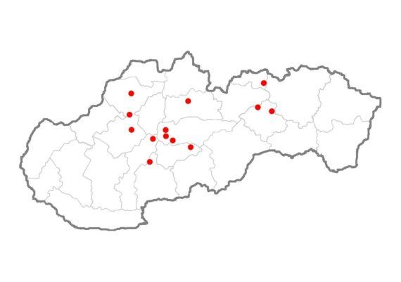 mapa miest